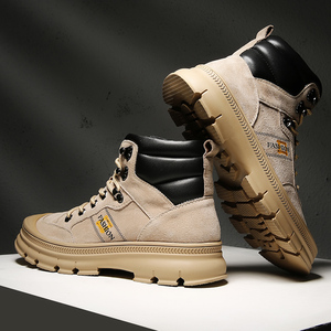 Image 1 - Misalwa/модные уличные зимние армейские ботинки; Мужские военные ботинки дезерты; Плюшевые дышащие рабочие безопасные кроссовки; Большие размеры 38 46