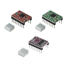 Piezas de impresora 3D A4988 DRV8825, controlador de Motor paso a paso con disipador de calor para SKR V1.3 1,4 GTR V1.0 rampas 1,4 1,6 MKS GEN V1.4