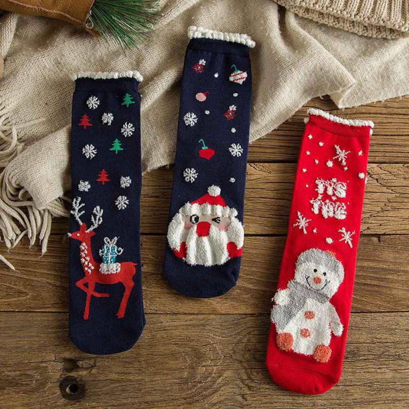 Novelty Christmas Xmas Snowman Santa Slippers Non Slip Mens Womens Kids Unisex