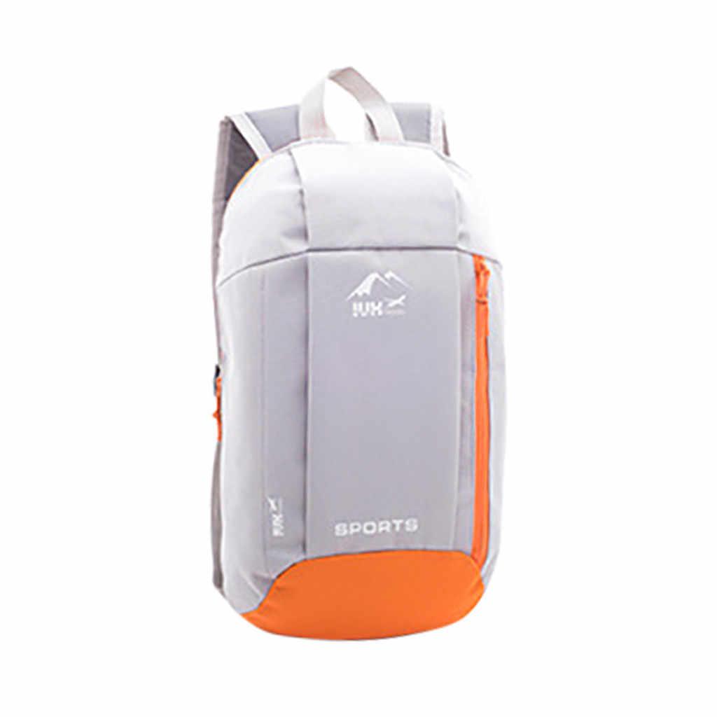 アウトドアスポーツ軽量バックパック旅行ハイキングバッグジッパー調節可能なベルトキャンプナップザック男性女性子供ユニセックス 3.28