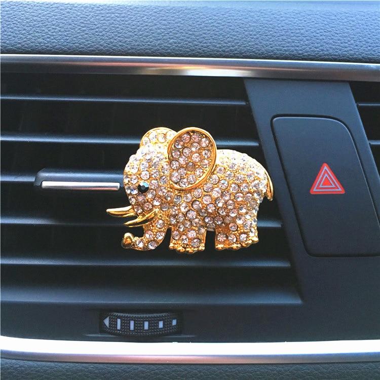 Crystal Elephant Car Perfume Cute Car Accessories Car Decoration Interior Car Pendant Car Accessories for Girls