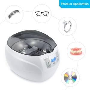 Image 1 - SKYMEN ultrasonik temizleyici 600ml 35W 40kHz ultrasonik çamaşır para paraları takı pedikür tırnak sanat araçları temizleyici