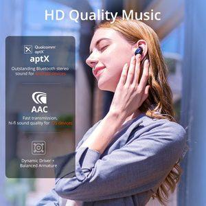 Image 2 - 1 יותר EHD9001TA פעיל רעש ביטול היברידי TWS משחקי אוזניות Bluetooth 5.0 אוזניות aptX/AAC HiFi אלחוטי טעינה