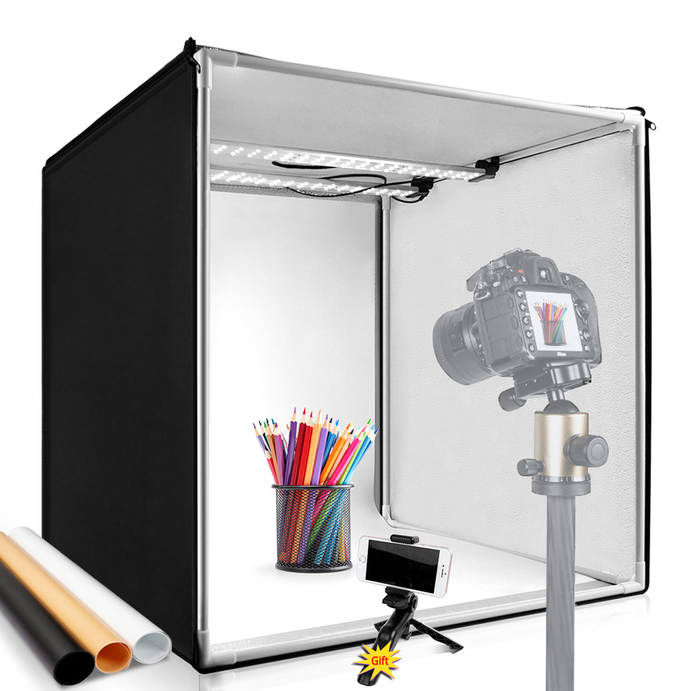 40 40 40cm LED Lightbox Portable Photo Studio 15 7inch Light Box Softbox CRI95 Photo Tent for Product Jewelry Toy Photography Shoot