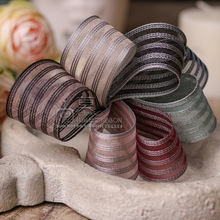100yards 10 16 25 40mm stripes organza sheer ribbon for hair bow diy accessories bouquet packing package bow craft supplies 100yards 10 16 25 40mm stitched stripes organza sheer ribbon for bouquet flower packing bow wedding party craft supplies