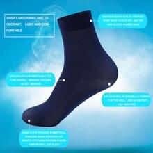 10 пар мужские летние тонкие дышащие дезодорирующие носки деловые