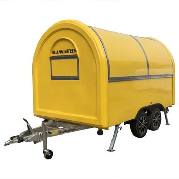 custom made food truck concession food trailer Mobile Food Truck Concession Food Trailer  340x200x240cm Yellow