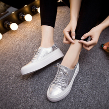 Women Flat Shoes Silver/Gold/Black Ladies Shoes Spring/Summer/Autumn/Winter Casual Female Shoes Flats Loafers Woman Footwear