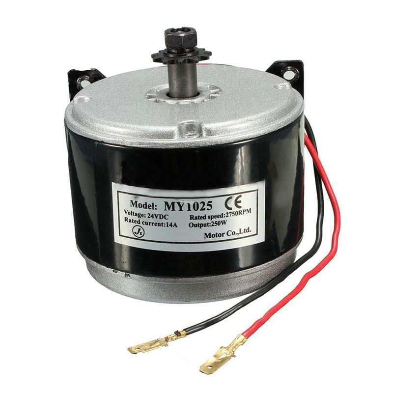 HHO-24V Electric <font><b>Motor</b></font> Brushed <font><b>250W</b></font> 2750RPM Chain For E Scooter Drive Speed Control image