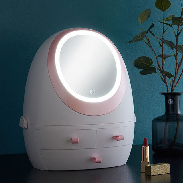 LED Light Cosmetic Storage Box