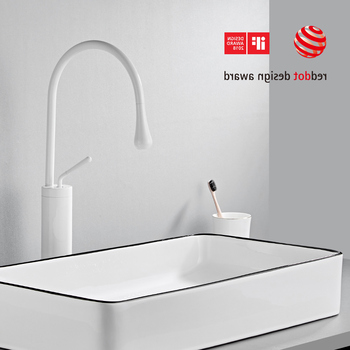 Modern Brushed Gold Basin Faucets Single Handle 360 Rotation Mixer Tap Washbasin Water Crane For Bathroom Vessel Sink Faucets 8