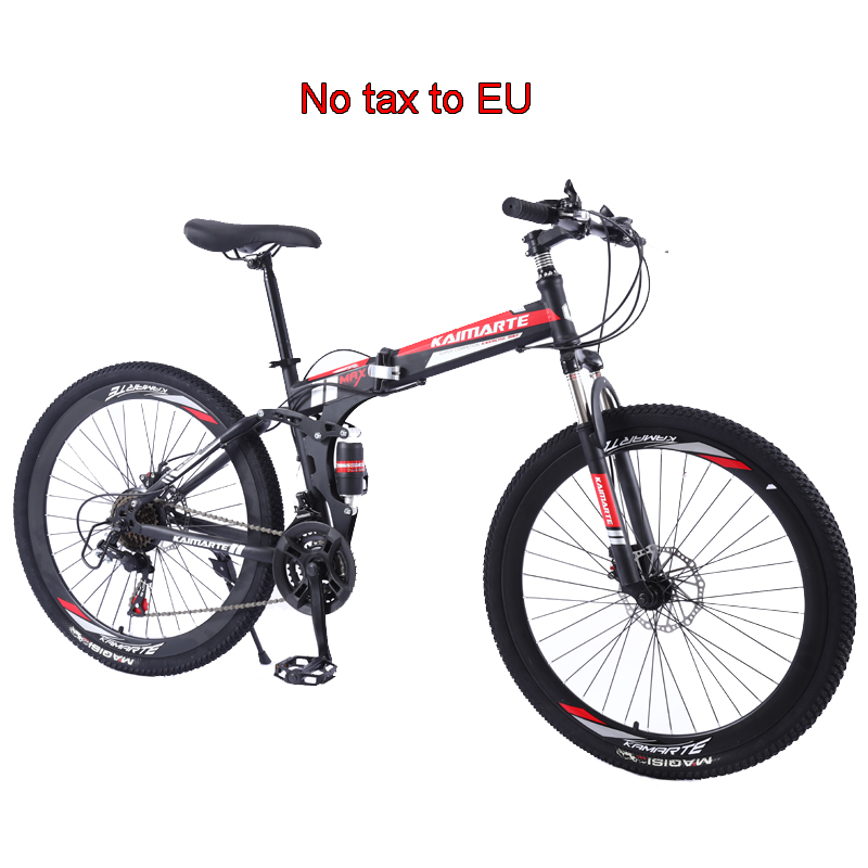 24/26 Inch Mountain Bike Folding Mountain Bicycle 21/24/27/30 Speed Adult Bicycle New High Carbon Steel Student Bike