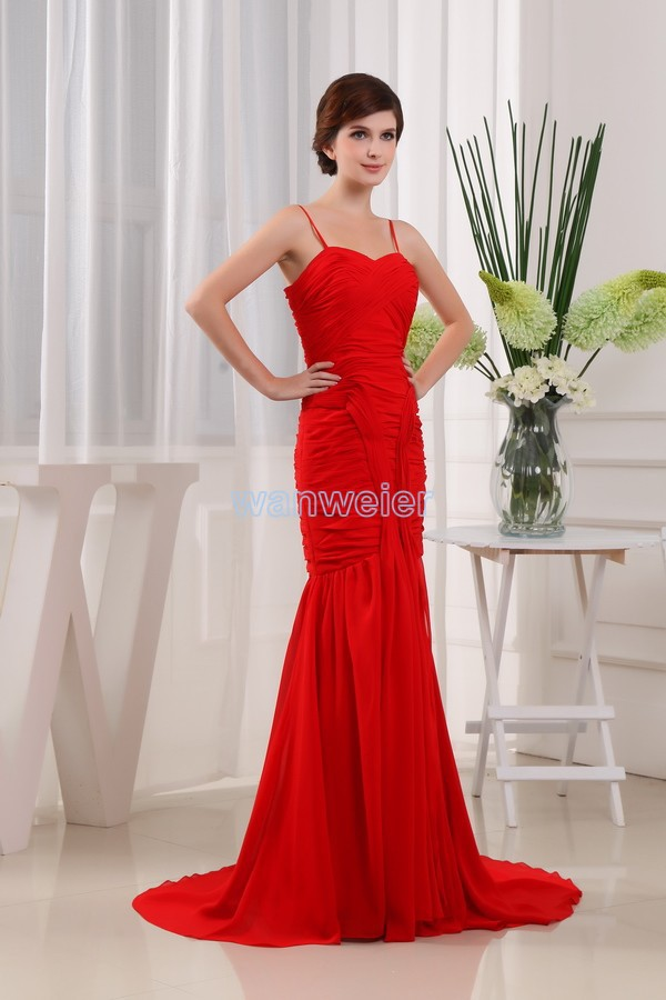 Free Shipping New Style 2016 Sweetheart Dress Vestidos Formals Brides Maid Dresses Red Mermaid Maxi Dresses Long Evening Dresses