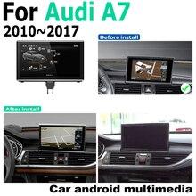 Android 9.0 4 + 64สำหรับAudi A7 4G8 2010 ~ 2017 MMI GPS Touch Screenเครื่องเล่นมัลติมีเดียสเตอริโอAutoradioนำทางสไตล์เดิม