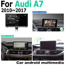 Android 9.0 4 + 64 Audi A7 4G8 2010 ~ 2017 MMI GPS dokunmatik ekran multimedya oynatıcı Stereo Autoradio navigasyon orijinal tarzı