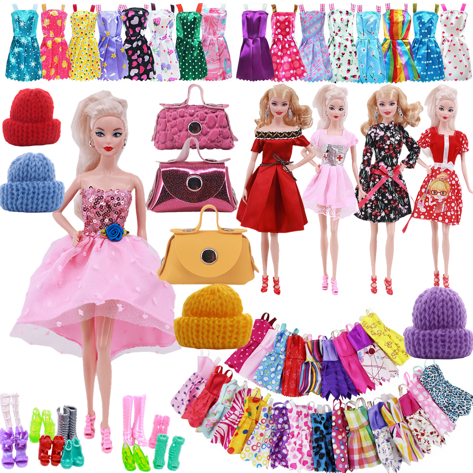 Barbies Doll Clothes Evening Dress&Accessories Suitable For 11.5inch Barbies Doll Cocktail Daily Casual Clothing Accessories