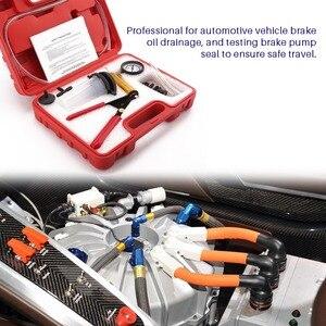 Image 3 - Universal hand held diy ferramentas sangrador fluido de freio pistola vácuo bomba tester kit bomba de alumínio corpo pressão vácuo calibre ht190
