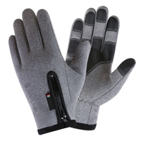 Winter Motorcycle Gloves Cycling Skiiing Gloves Warmer Sports Gloves Touch Screen Zipper Thermal Fleece Full Finger Gloves|Cycling Gloves| |  -