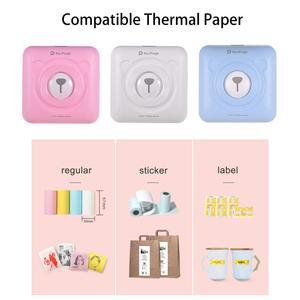 Image 4 - Mini impressora de papel bluetooth sem fio portátil, impressora de papel impressão térmica de bolso conexão usb