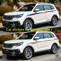 Car stickers for Kia sportage r 2018 2019 Appearance decorative stickers sportage r body color strip stickers decoration