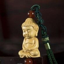 Boxwood Car Hanging Lovely Carving Goddess of Buddha Parts Decorations
