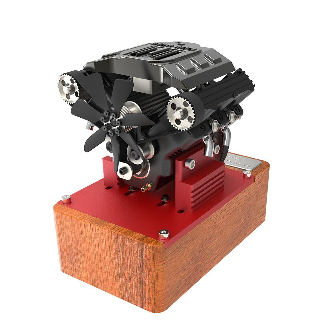 TOYAN V4 Engine Four Cylinder Four Stroke Methanol Engine FS-V400A Engine Without T Plug Battery For 1:10 1:12 1:14 RC Car
