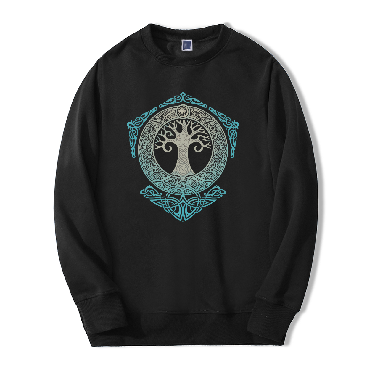 Yggdrasil Norse Mythology Loose Fleece Fitness Streetwear Hip Hop Mens Sweatshirt Viking Spring Winter Fashion Hoodie Tracksuit