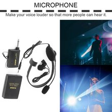 Portable VHF Stage Wireless Lavalier Lapel Headset Microphone System Mic FM Transmitter Bodypack Transmiter