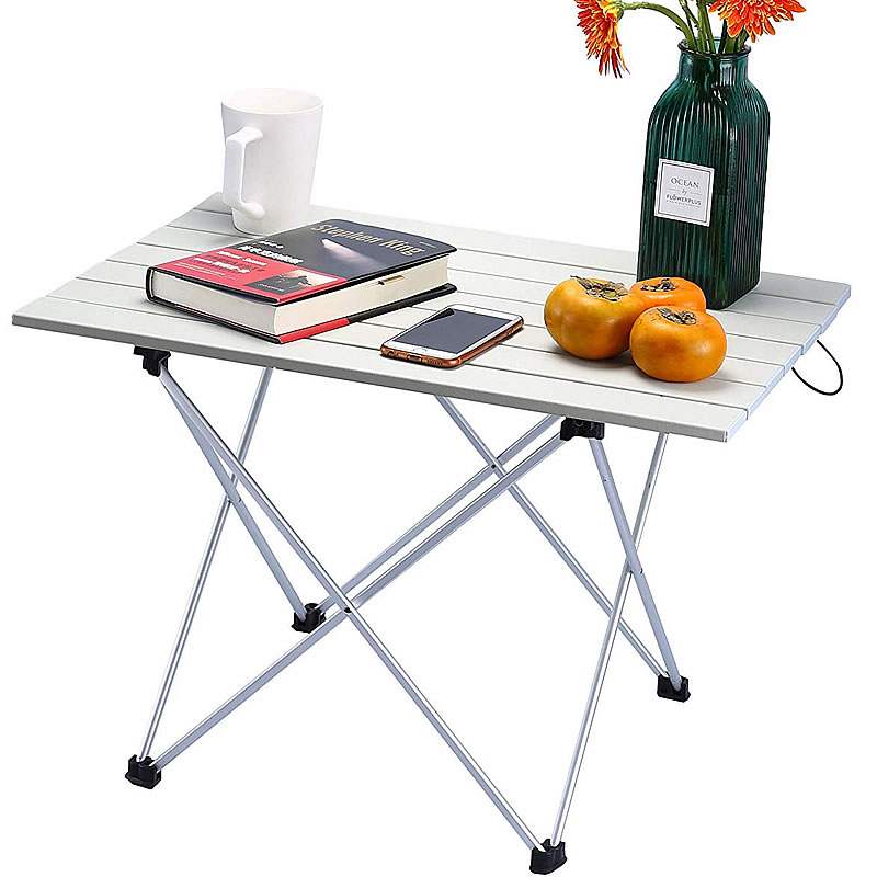 Outdoor Table Portable Foldable Camping Furniture Computer Tables Picnic Size 6061 Al Light Color Anti Slip Folding Desk