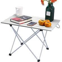 Stolik na zewnątrz przenośne składane meble kempingowe stoły komputerowe piknik rozmiar 6061 Al kolor światła antypoślizgowe składane biurko tanie tanio Lighten Up 56 5*41*40cm Metal Aluminium Minimalist Modern Na zewnątrz tabeli Meble ogrodowe table Nowoczesne Montaż Prostokąt
