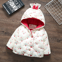 Baby Kids Cotton Padded Clothes Outerwear Winter And Autumn Girls Casual Cute Wadded Jacket Children's Thickened Hooded Coat 2018 baby girls cotton padded outerwear
