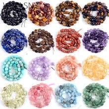 Natural Irregular Mix Gem Stone Agates Crystal Tiger Eye Jades Minerals Beads For Jewelry Making Spacer Diy Bracelet 15