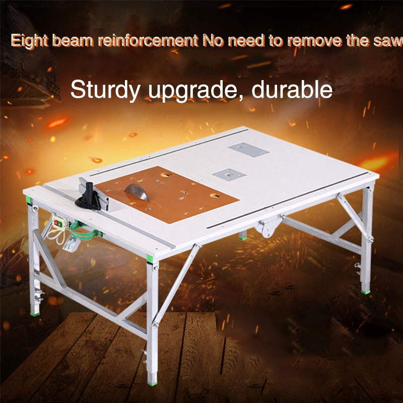 Portable Multifunction Woodworking Electric Table Saw Small Saw Table Decoration DIY Folding Table Wood Push Wood