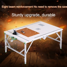 Portable multifunction woodworking electric table saw small saw table decoration DIY folding table wood push wood mitre saw table zubr spd 210 1500