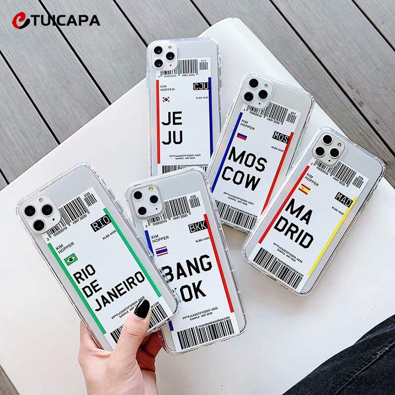 Чехол для телефона с маркировкой билета, Прозрачный мягкий силиконовый чехол для iphone 11 Pro 7 8 Plus 6 6S XS Max XR X|Бамперы| | АлиЭкспресс