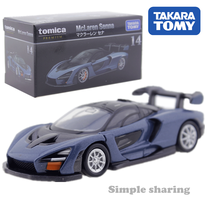 Tomica McLaren Senna 1/62 No.14 Hot Kids Toys Pop Miniature Diecast Metal Car Toy Model For Children Over 6 Years