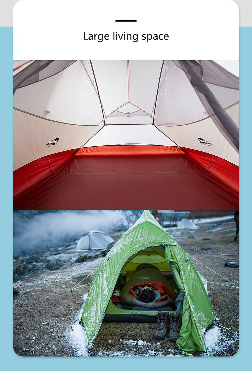 Naturehike سحابة حتى Serie 123 ترقية التخييم خيمة مقاوم للماء في الهواء الطلق خيمة صغيرة للمعسكرات والشواطئ يمكن حملها في شنطة اليد 20D 210T النايلون الظهر خيمة مع حصيرة مجانية