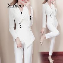 autumn elegant White suit blazers women's professional casua