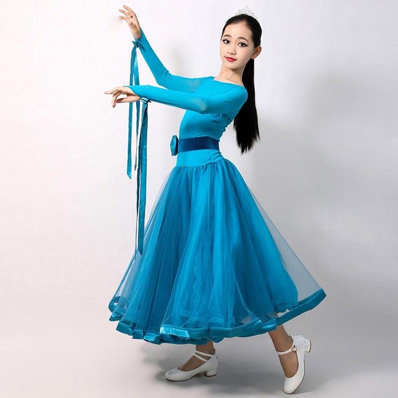 Modern Dance Costumes For Kids Ballroom Dancing Waltz Dance Dress For Girls Flamenco Dress Kids Ballroom Dresses Foxtrot Dress
