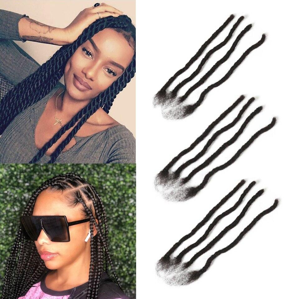 Joedir Afro Kinky Curly Dreadlock Crochet Braids Remy Human Hair Extensions 20 Strands/Lot Handmade Dreadlocks For Women And Men