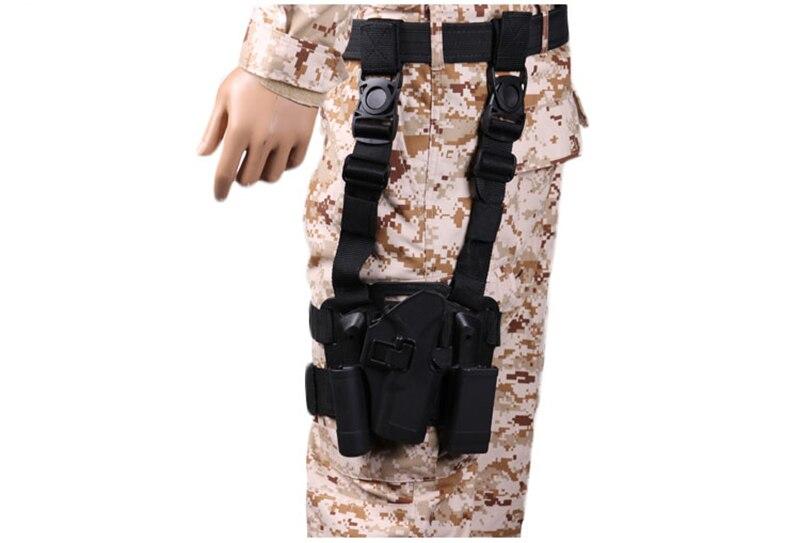 Étui tactique pour cuisse droite avec poche torche Glock 17 19 22 23 31 32 - 6