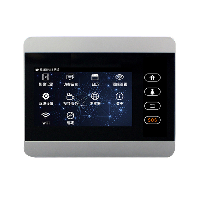 ROLLUP IHOME5 Mirilla WiFi Door Viewer&Video IP Door 4 Inch Monitor Door Dispaly Video Photo Taking Shipment Only Door Screen