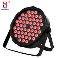 Dj lighting par 54x3w light led flat par rgb 3in1 wash color mixing effect for dance hall family gathering stage equipment