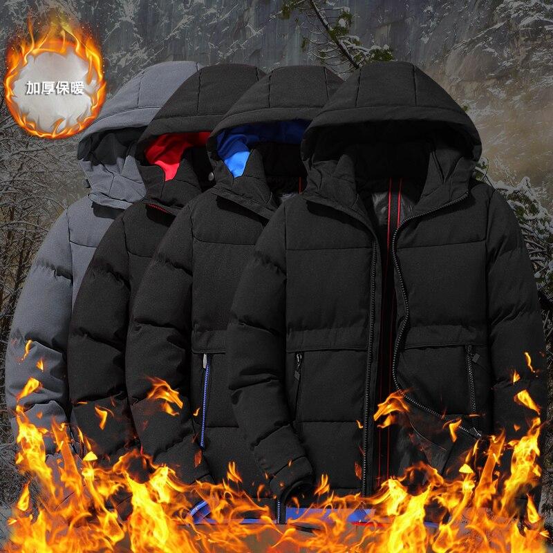 Woodvoice Winter Coat Men Hooded Casual Parka Outwear Mens Down Jacket Mens Windbreaker Overcoat Thick Warm Parkas Veste Hommes