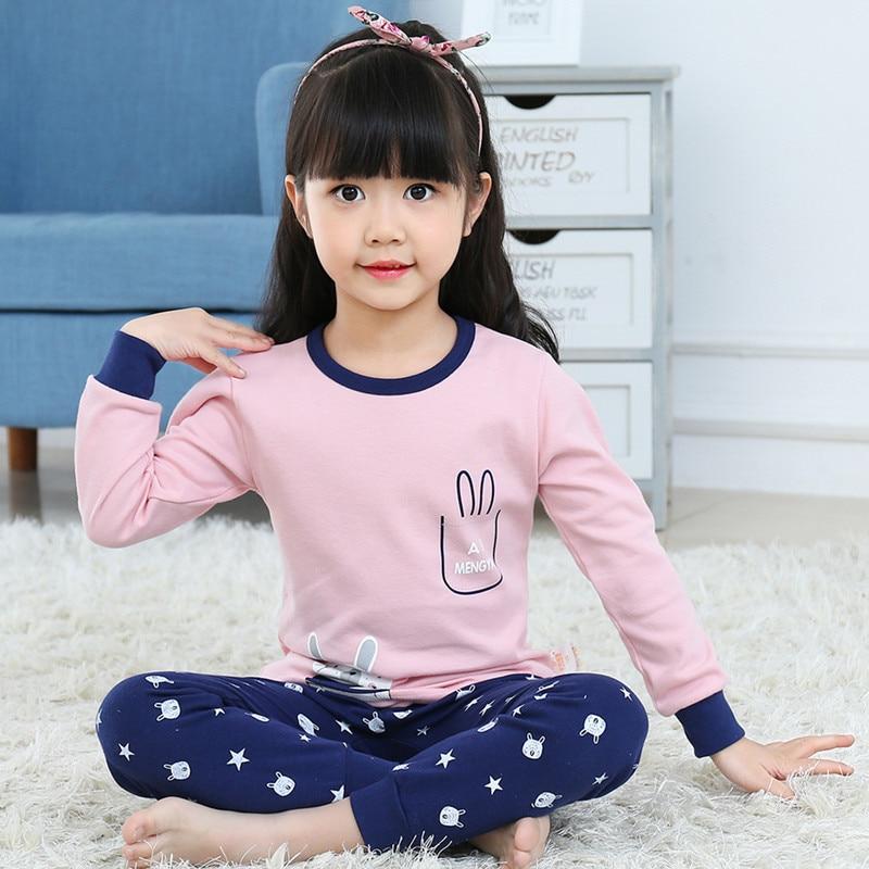 2020 winter girl cotton pajamas set baby clothes kids cartoon sleepwear pyjama enfant boys pijama toddler inflant nightwear