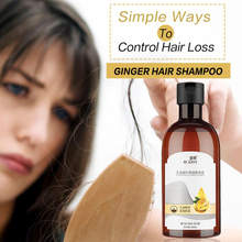 Hair Loss Shampoo Ginger Nourishing Hair Control Oil Anti Itching and Dandruff and Remove Mites Nutrition Hair and Roots Shampoo