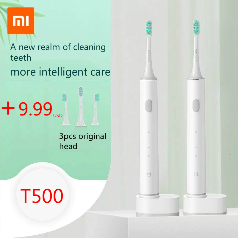 New Xiaomi Mijia T500 Electric Toothbrush Smart Sonic Brush Ultrasonic Whitening Teeth vibrator Wireless Oral Hygiene Cleaner