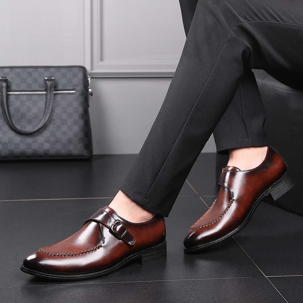 Новинка 2019 года; Мужские модельные туфли; дизайнерские деловые лоферы на шнуровке; повседневная обувь для вождения; мужские Вечерние кожаные туфли на плоской подошве