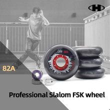 【 80mm 】 82A Hiper Slalom Patins Roda com ILQ-11 608rs Rolamento Patinação Sapatos Rodas Patins Inline Aderência Dos Pneus 4 pçs/lote