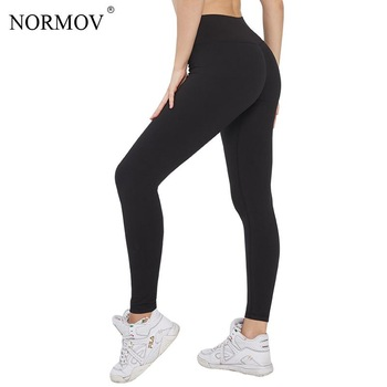 NORMOV Leggings Women Black High Waist Push Up Leggings For Women Gym Fitness Workout Sports Casual Leggins Mujer 1